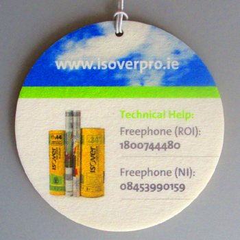 Isover Ireland car air freshener example