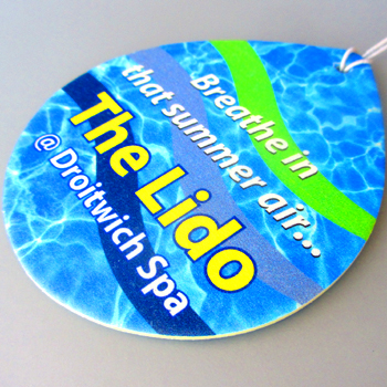 Droitwich Lido car air freshener example