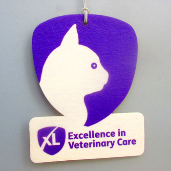XL Vets car air freshener example