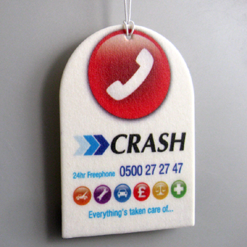 Crash car air freshener example
