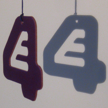 E4 Television car air freshener example