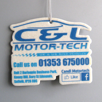 CL Motors car air freshener example